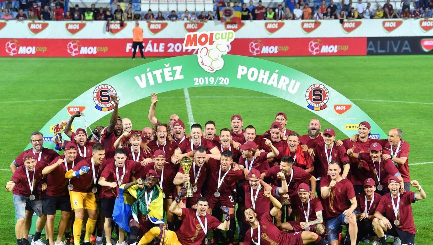 Fotbal - MOL CUP 2019/20 - finále - Liberec - Sparta (ve vínovém), 1:2, 1. 7. 2020