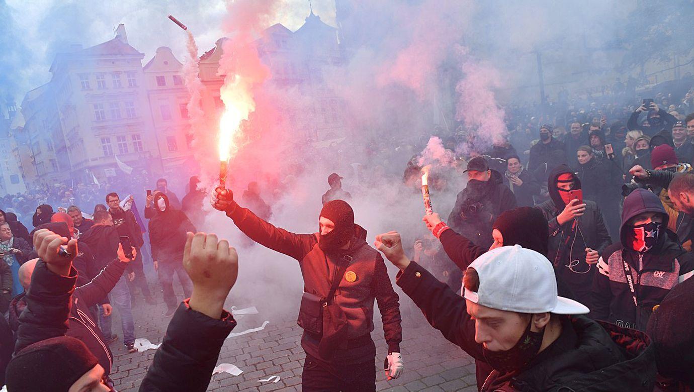 Fotbal - Fortuna liga 20/21 - Demonstrace