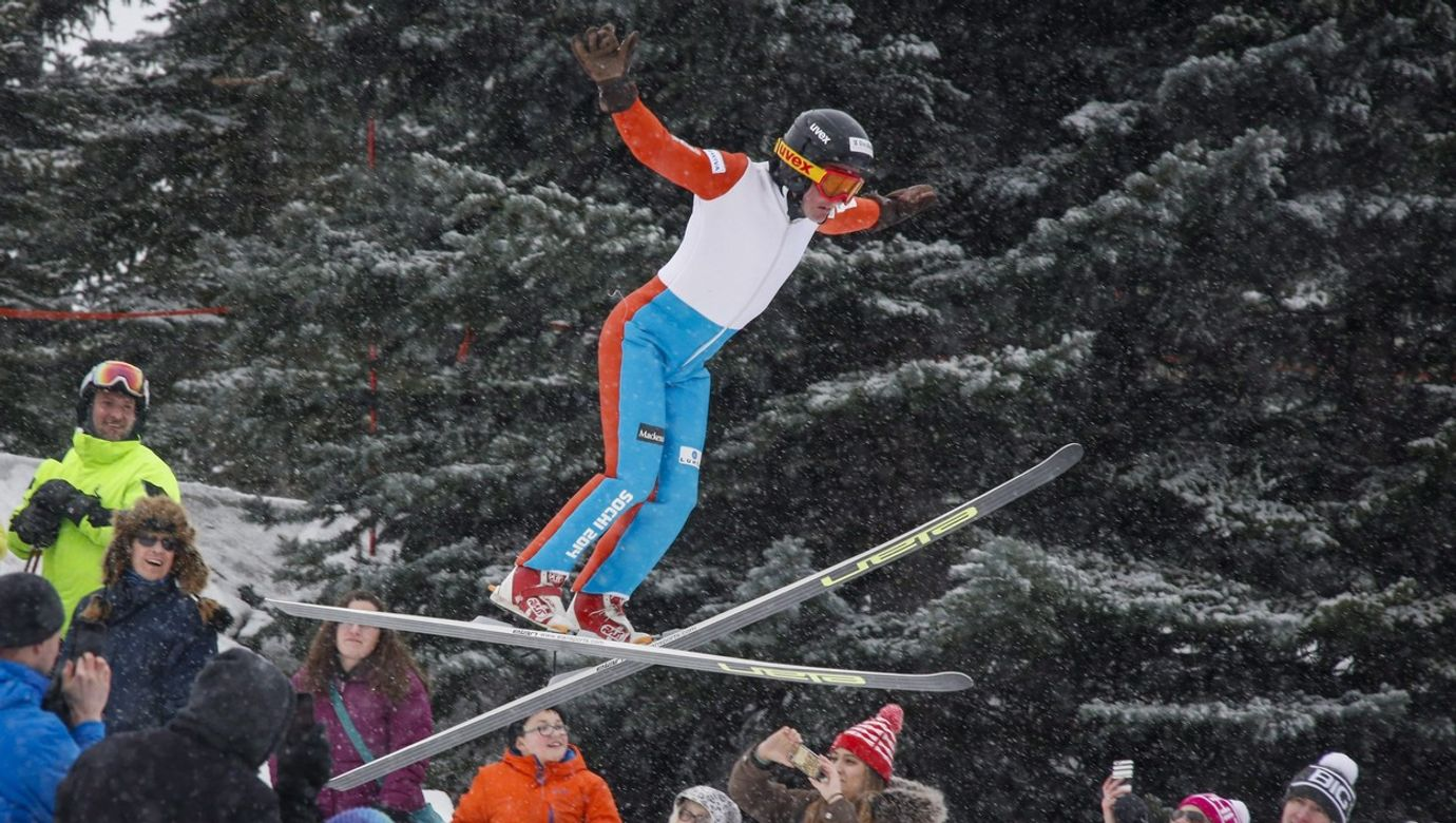 Eddie 'The Eagle' Edwards ski jumping in Calgary Olympic Park, Canada - 05 Mar 2017