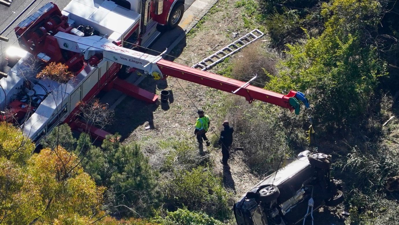 Tiger Woods Crash, Rancho Palos Verdes, California, United States - 23 Feb 2021