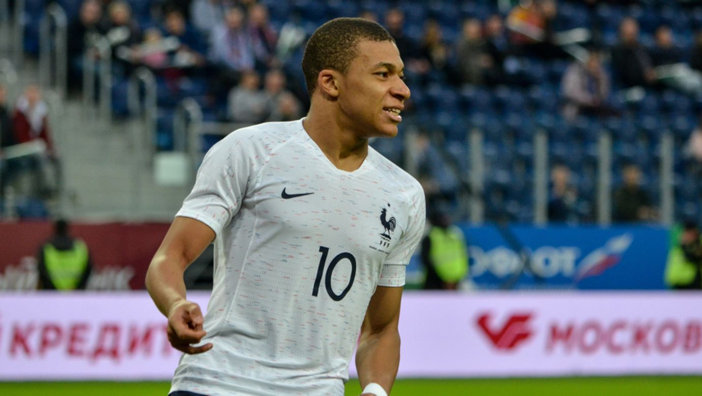 Saint,Petersburg,,Russia,-,March,27,,2018:,Kylian,Mbappe,During