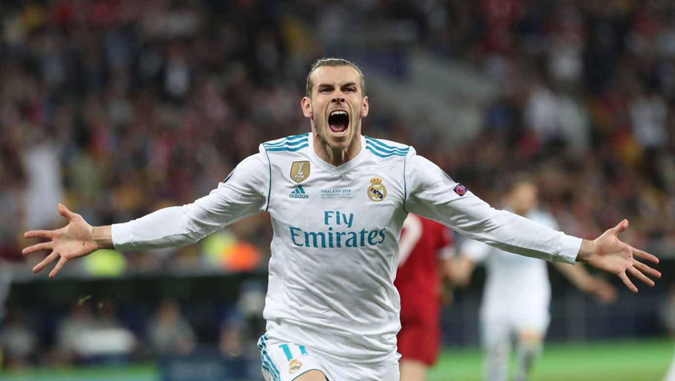 Kyiv,,Ukraine,-,May,26:,Gareth,Bale,In,Action,During