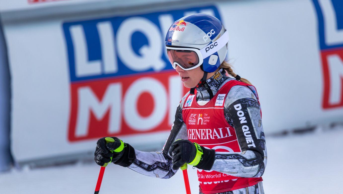 Ester,Ledecka,Of,Czechia,At,The,Fis,Ski,World,Cup