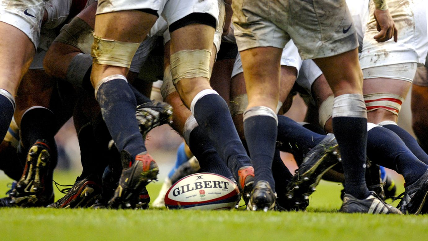 London,,England-march,26,,2007:,Rugby,Players,Scrum,During,The,Six