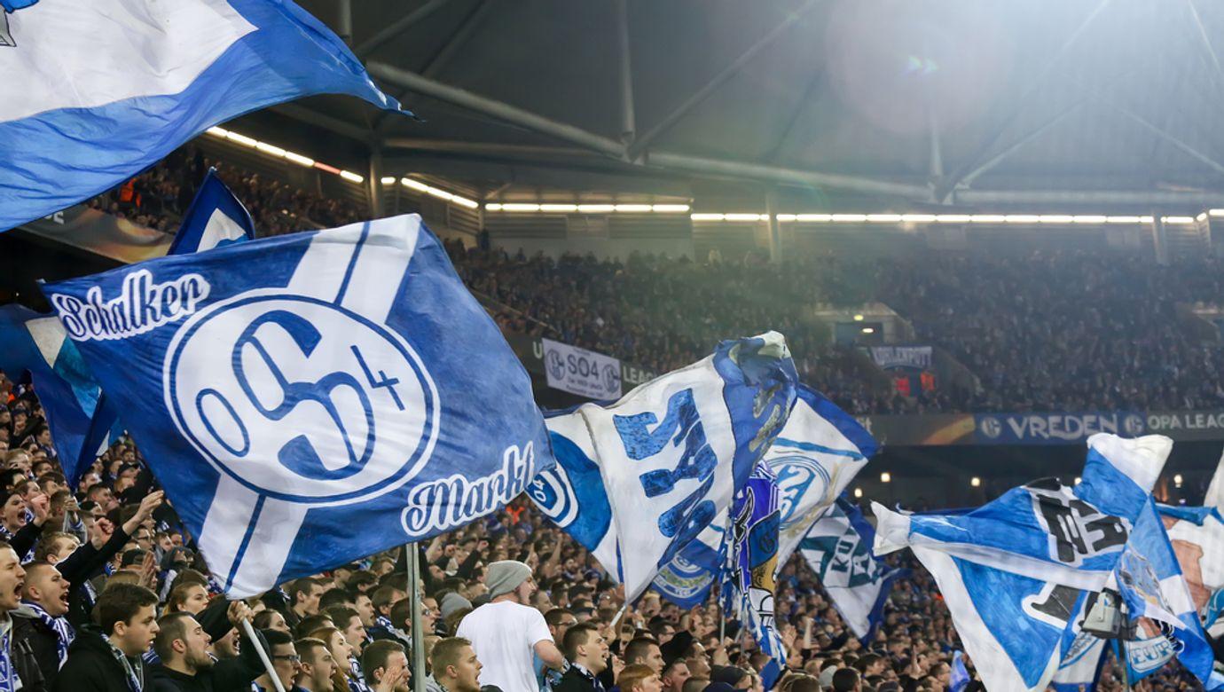Gelsenkirchen,,Germany,-,February,22,,2017:,Schalke,Fans,Celebrating,For