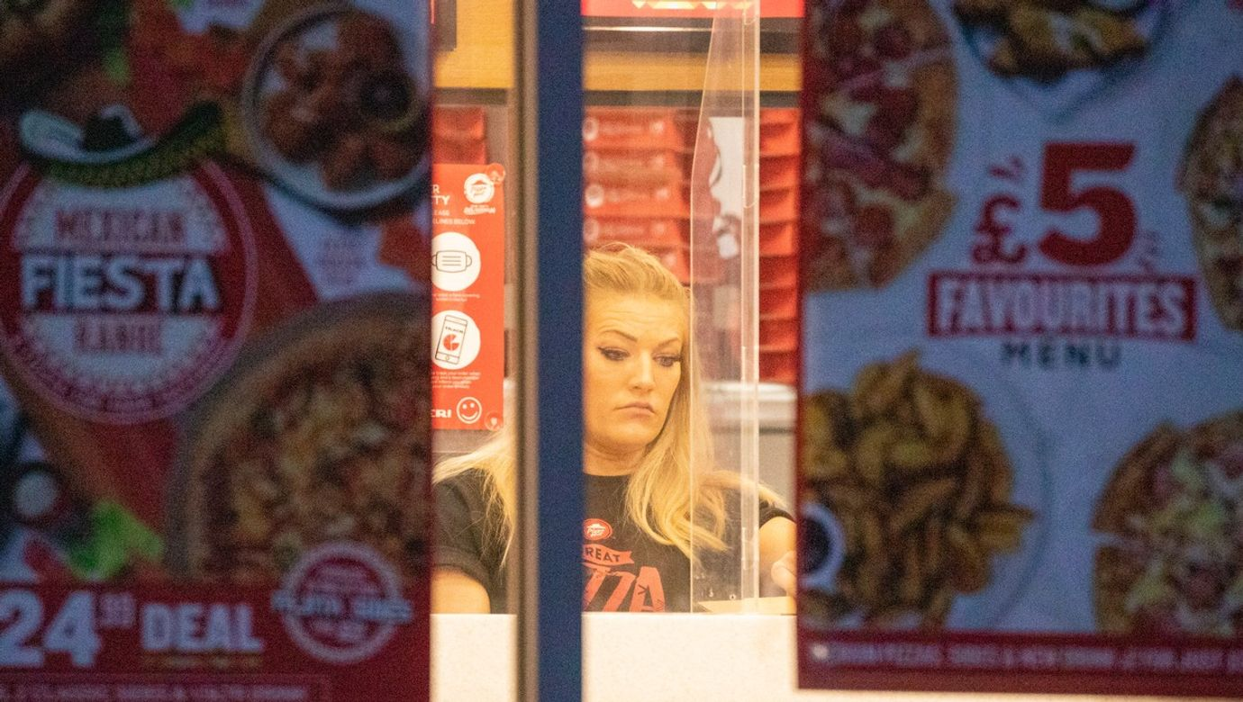 EXCLUSIVE: GB Olympic Speed Skating Royalty Elise Christie Is Seen Working Shifts In Pizza Hut To Raise Funds To Support Her 2022 Beijing Olympic Bid.