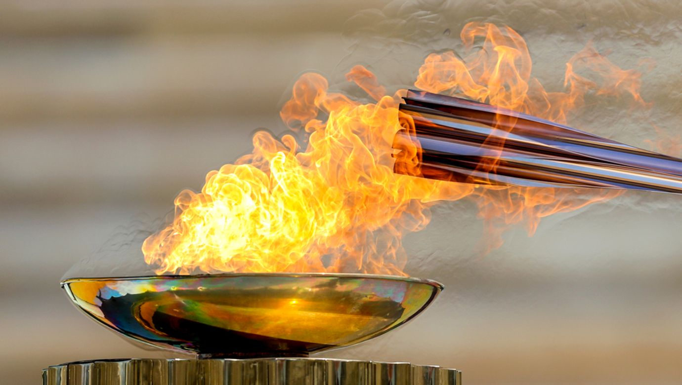 Athens,,Greece,-,March,19,,2020:,Olympic,Flame,Handover,Ceremony