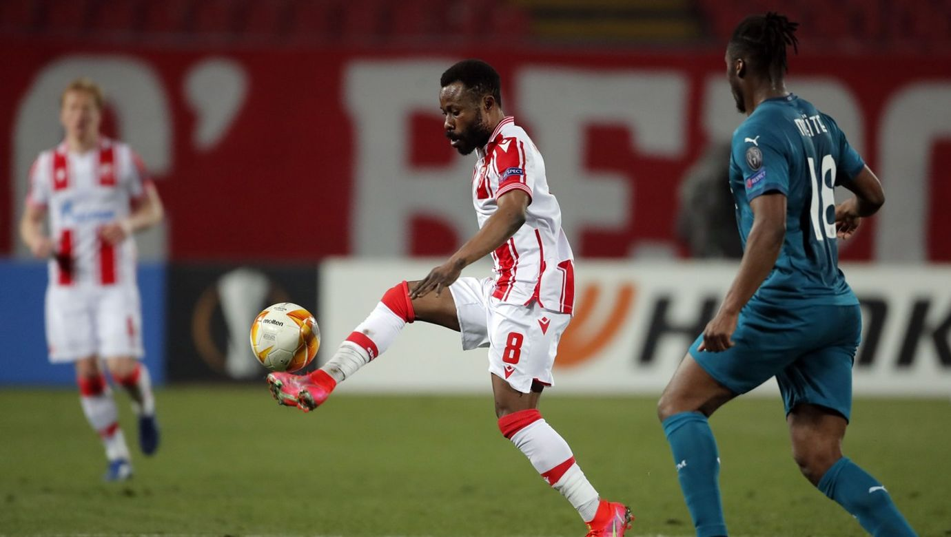 UEFA Europa League Round of 32 , 1st leg Crvena Zvezda VS AC Milano