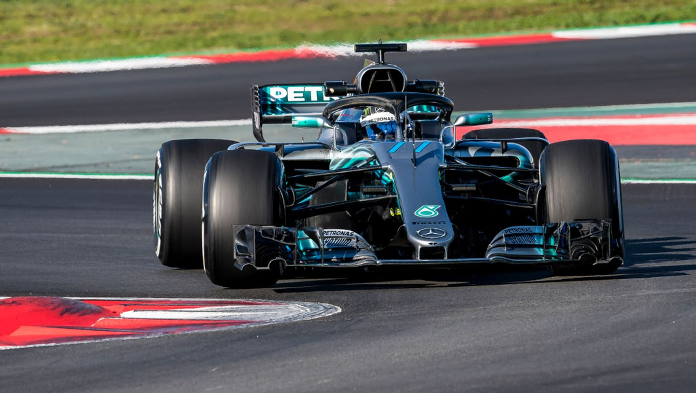 Barcelona,,Spain,-,March,6,,2018:,Valteri,Bottas,During,Formula