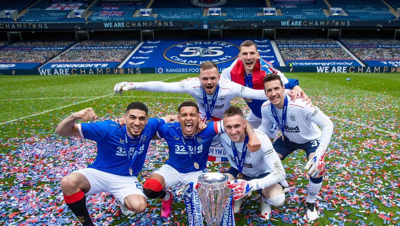Rangers v Aberdeen, Scottish Premiership,  Football, Ibrox Stadium, Glasgow, UK - 15 May 2021