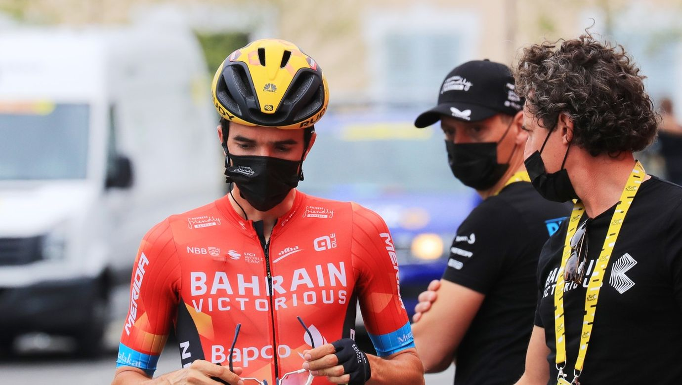 Pello Bilbao před startem etapy.