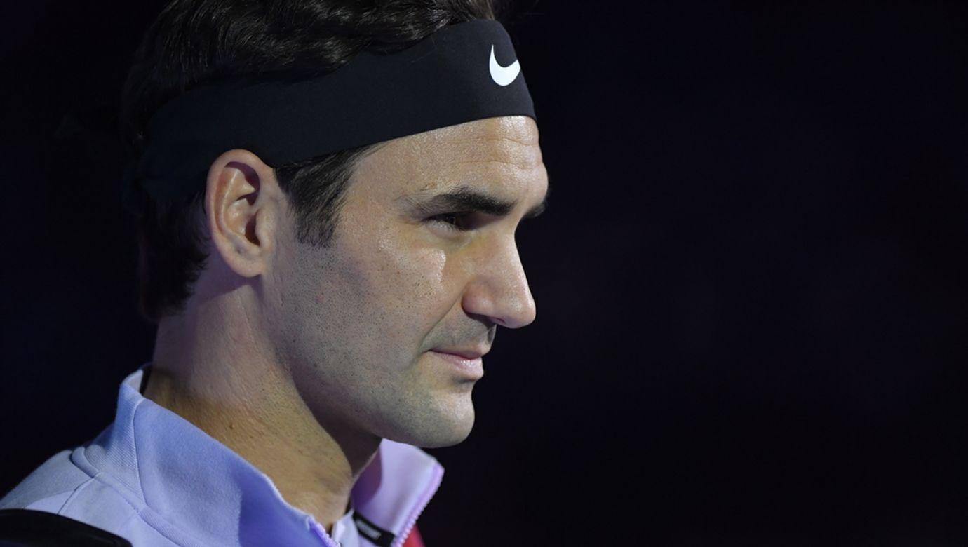 Portrét Rogera Federera.