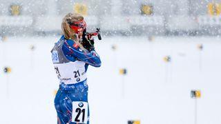 Biatlonistky si užily posledního sněhu a cvičily oči