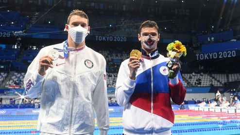 Nemáš tu co dělat, osopil se americký plavec na vítězného Rusa