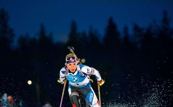 Markéta Davidová šestá ve sprintu v Kontiolahti