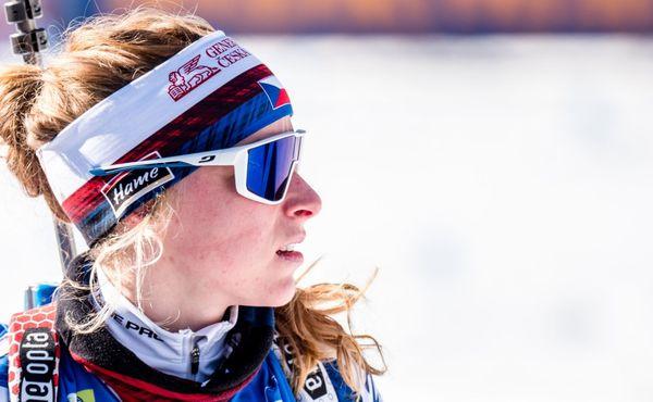 Poslední den mistrovství světa v biatlonu, v akci Davidová a Krčmář