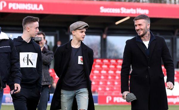 Beckham a Neville. Teenageři nastoupili za rezervu Interu Miami